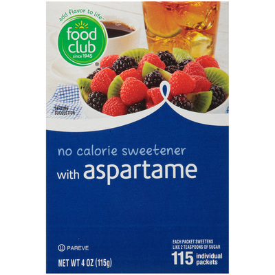 Food Club No Calorie Sweetener With Aspartame