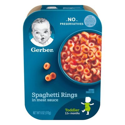 Gerber Spaghetti Rings in Meat Sauce