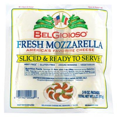 BelGioioso Fresh Mozzarella Cheese Slices