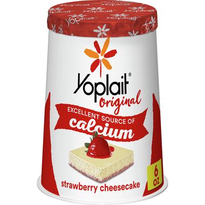 Yoplait Original Yogurt, Strawberry Cheesecake, Low Fat Yogurt