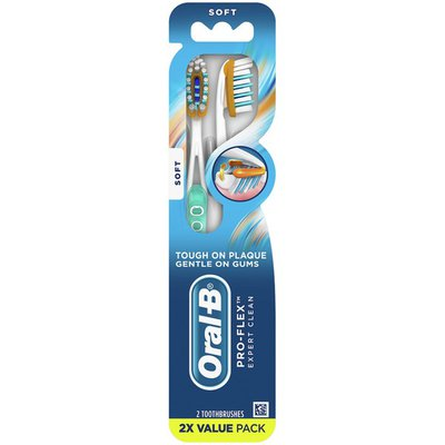 Oral-B Pro-Flex Expert Clean Toothbrushes, Soft