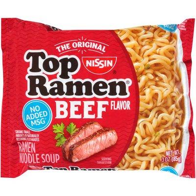 Nissin Top Ramen Beef Flavor Ramen Noodle Soup