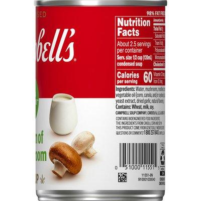 Campbell's® 98% Fat Free Cream of Mushroom Soup