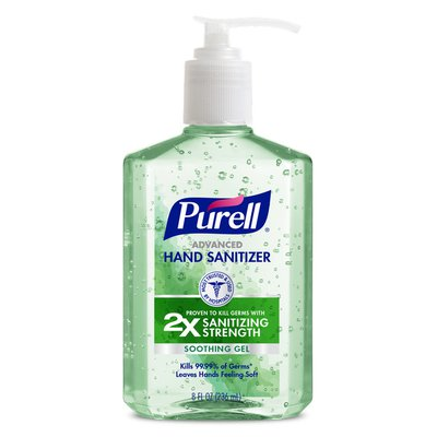 Purell Advanced Hand Sanitizer Soothing Gel, with Aloe and Vitamin E