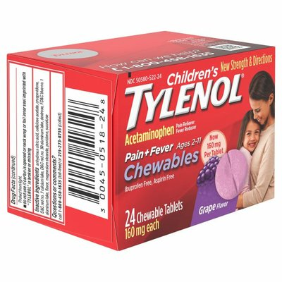 TYLENOL Chewables, Grape