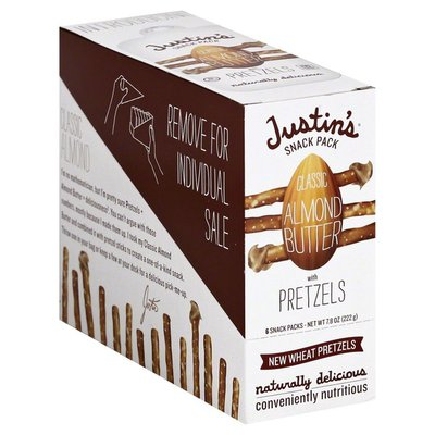 Justin's Snack Pack, Classic Almond Butter with Pretzels