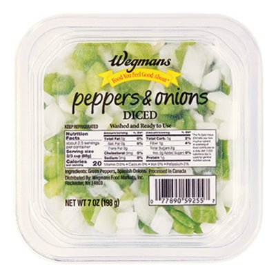 Wegmans Food You Feel Good About Diced Green Peppers & Onions