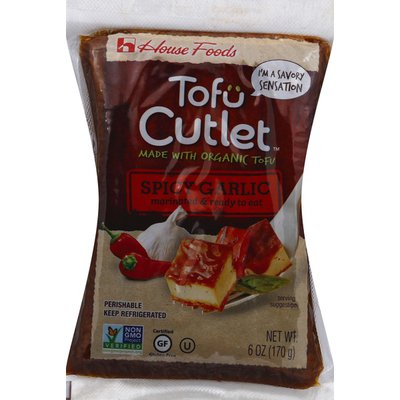 House Foods Tofu, Spicy Garlic, Cutlet
