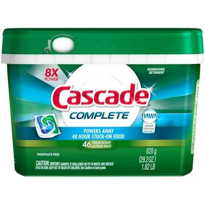 Cascade Dishwasher Detergent, Fresh Scent Action Pacs