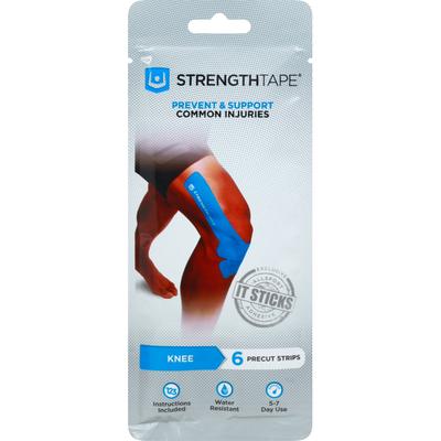 StrengthTape Bandages, Knee, Precut Strips