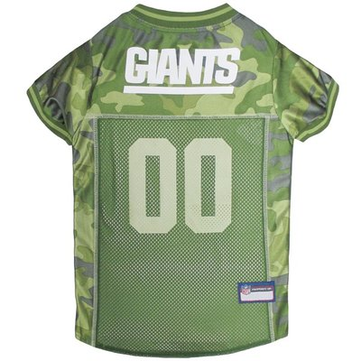 Pets First Large New York Giants Camo Dog Jersey