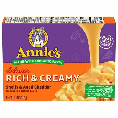Annie's Deluxe Rich & Creamy Shells & Aged Cheddar Macaroni & Cheese Sauce