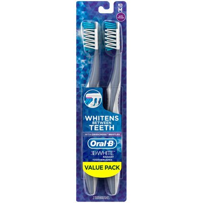Oral-B White Radiant Whitening Toothbrush, Manual Oral Care