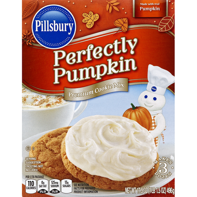 Pillsbury Cookie Mix, Premium, Perfectly Pumpkin
