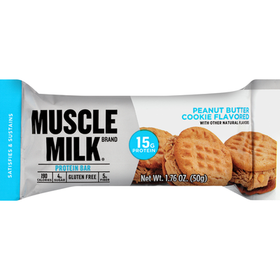 CytoSport Muscle Milk Protein Bar, Peanut Butter Cookie Flavored