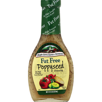 Maple Grove Farms of Vermont Dressing, Fat Free, Poppyseed