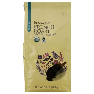 GreenWise Organic Ground Dark French Roast Coffee 10.0 oz BAG