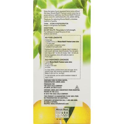 Minute Maid 100% Pure Lemon Juice