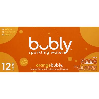bubly Sparkling Water, Orange