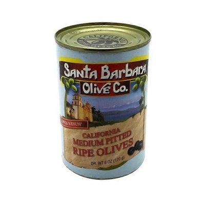 Santa Barbara Olives, Ripe, Lower Sodium,  California Medium Pitted