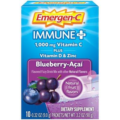 Emergen-C Immune+ Fizzy Drink Mix Blueberry Acai, Immune+ Fizzy Drink Mix Blueberry Acai
