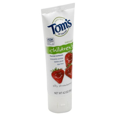 Tom's of Maine Toothpaste, Fluoride, Silly Strawberry, Children's