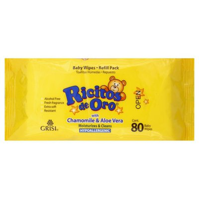 Ricitos de Oro Baby Wipes, Refill Pack