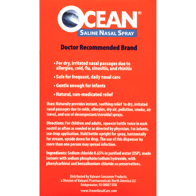 Ocean Complete Saline Nasal Spray - 2 CT