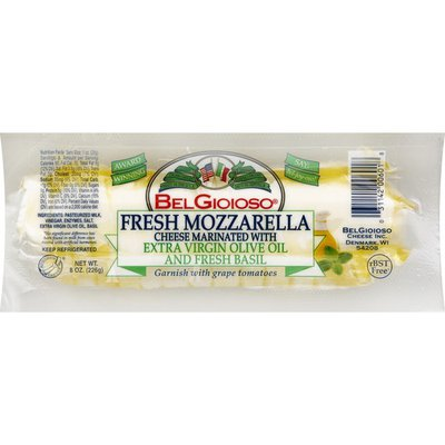 BelGioioso Cheese, Fresh Mozzarella, Marinated with Extra Virgin Olive Oil and Fresh Basil