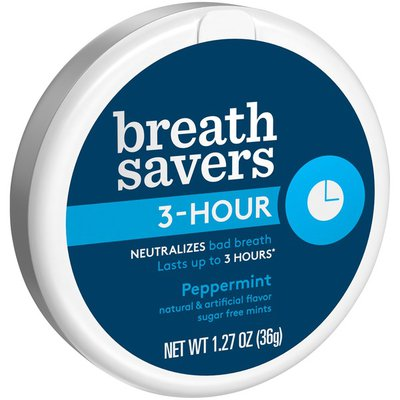 Breath Savers 3-Hour Mints in Peppermint Flavor,