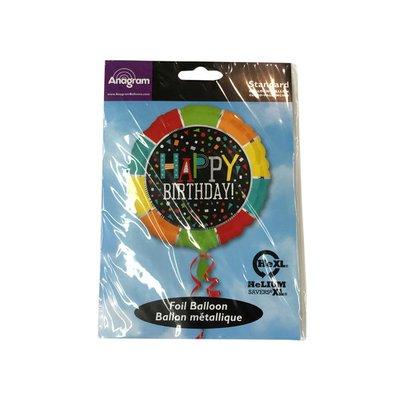"Anagram Mf 18"" Happy Birthday Balloon"