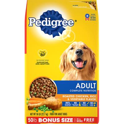 Pedigree Dog Food, Roasted Chicken, Rice & Vegetable Flavor, Adult Complete Nutrition, Bonus Size