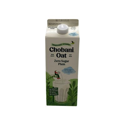 Chobani Oat Drink, Zero Sugar, Plain