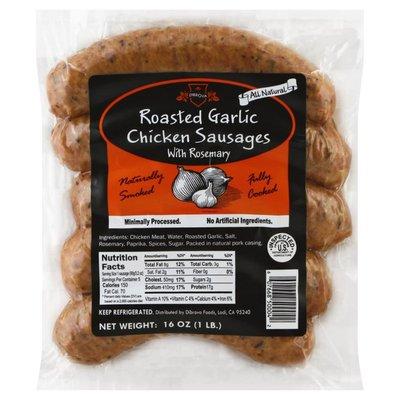 Dibrova Chicken Sausages, Roasted Garlic