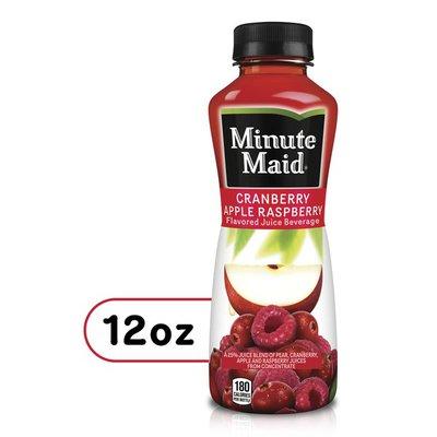 Minute Maid Cranberry Apple Raspberry Fruit Juice Bottle
