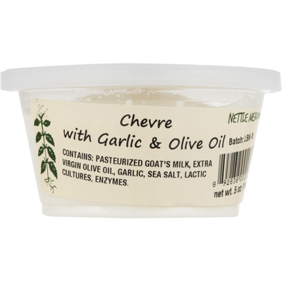 Nettle Meadow Chevre With Garlic And Olive Oil