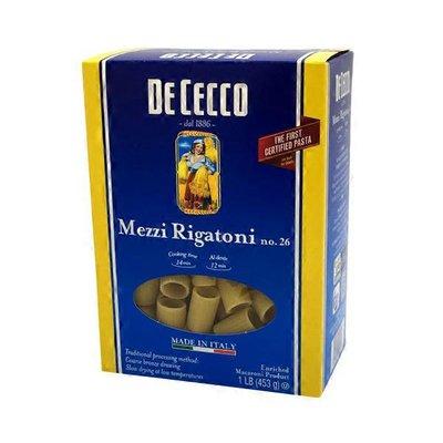 De Cecco Mezzi Rigatoni, No. 26