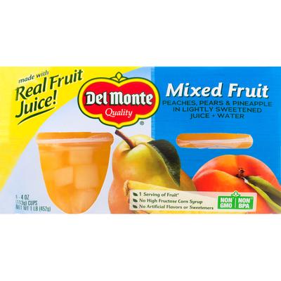 Del Monte Mixed Fruit in 100% Juice Plastic Fruit Cup Snacks