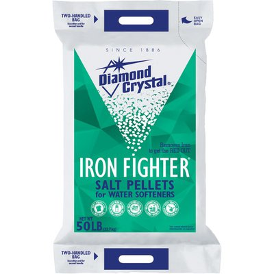 Diamond Crystal Iron Fighter Salt Pellets for Water Softeners