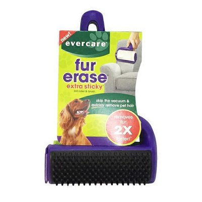 """Evercare Fur Erase Extra Sticky Lint Roller & Brush 8"""" L X 5"""" W 2.5"""" H"""