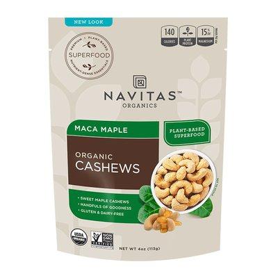 Navitas Cashews, Organic, Maca Maple