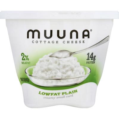 Muuna Cottage Cheese, Creamy Small Curd, 2% Milkfat, Lowfat, Plain