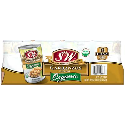 S&W Organic Garbanzos, Chick Peas