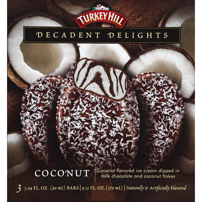 Turkey Hill Ice Cream Bar, Coconut