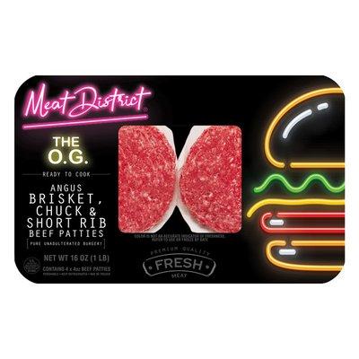 Meat District The O.G. Angus Brisket Chuck & Short Rib Beef Patties