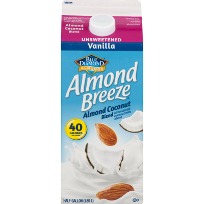 Blue Diamond Almond Breeze Unsweetened Vanilla Almond Milk & Coconut Milk  Blend