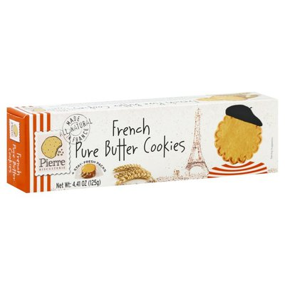 Pierre Biscuiterie Cookies, French Pure Butter, 4 Stay-Fresh Packs