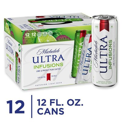 Michelob Ultra Infusions Lime & Prickly Pear Cactus Light Beer Cans