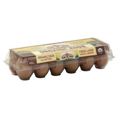 Land O Lakes Eggs, Organic, Large, Brown