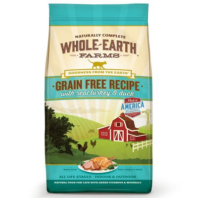 Whole Earth Farms Grain Free Recipe Natural Food For Cats With Added Vitamins & Minerals